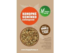 HappyHemp Konopné semínko neloupané 1kg